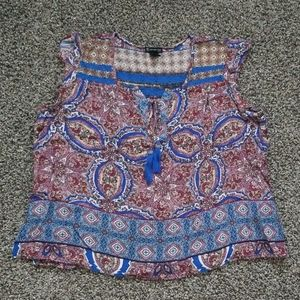floral tank top PL new Directions